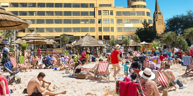 Ixelles : Une plage sur la place Flagey pour l'été 2019